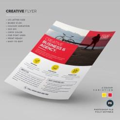 Creative Corporate PSD Flyer Template