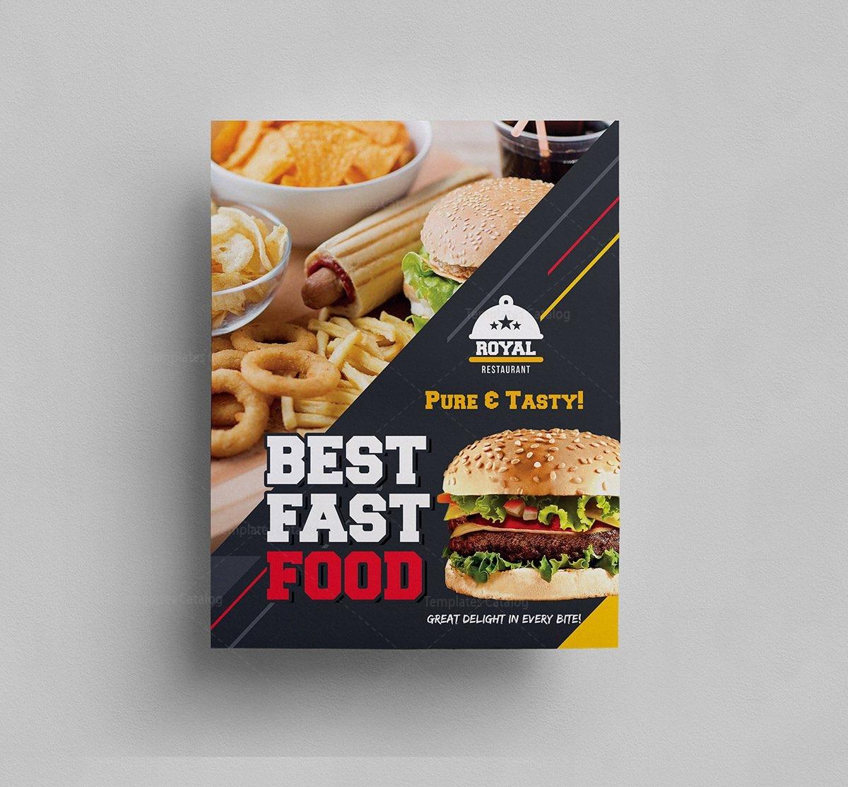 Burger Cafe Food Menu Template