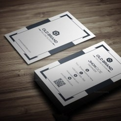 Classic Vertical Business Card Template