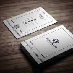 Clean Vertical Business Card