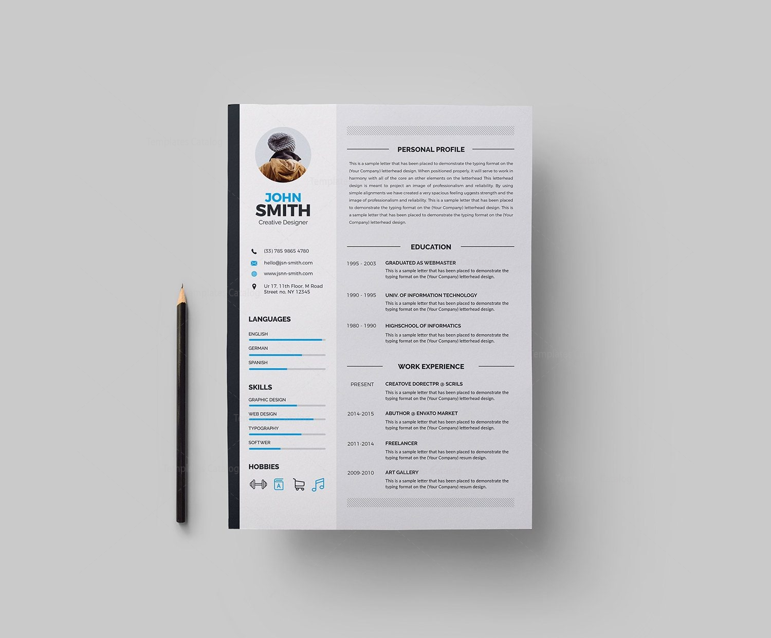 color on resume resume template 000283 template catalog 1242