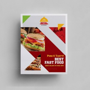 Fast Food Cafe Menu Template