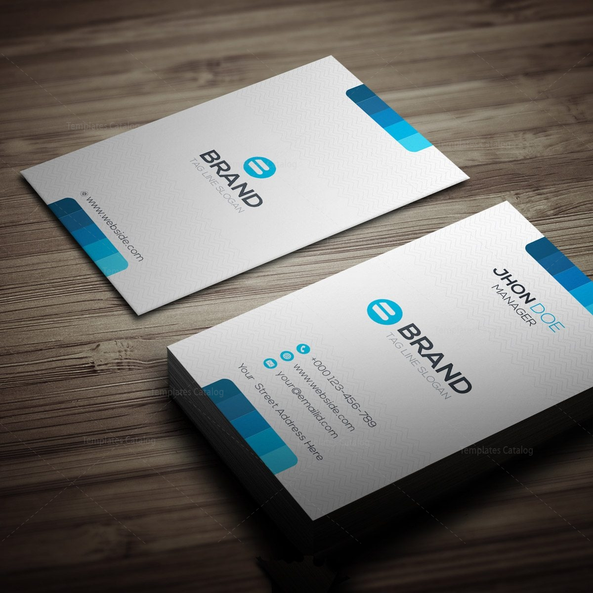 Vertical Business Card Template Free: Horizontal + Vertical Business Card Template 000270