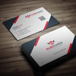 Multimedia Business Card Template