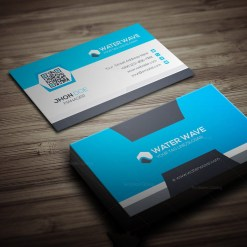 Water Wave Business Card Template