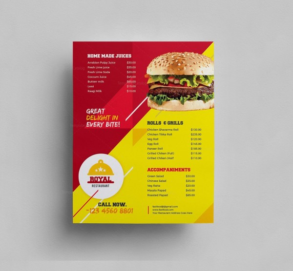 Elegant Restaurant Menu Template