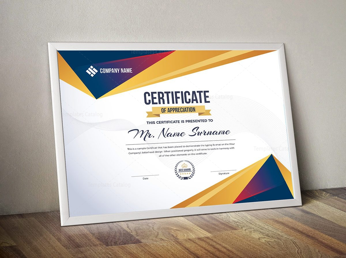 Modern Certificate Template 000320 - Template Catalog