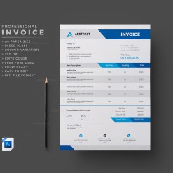 PSD Invoice Template