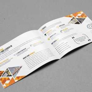 Bi-Fold Brochure Template with Classy Style