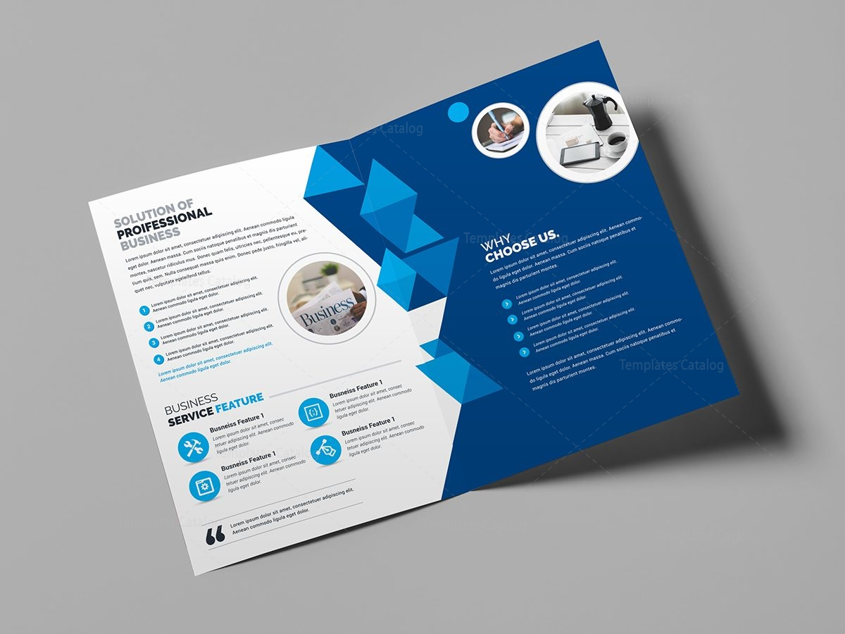 corporate business bifold brochure template 000437