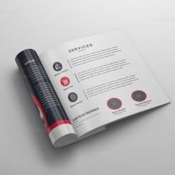Elegant Square Bi-Fold Brochure Template