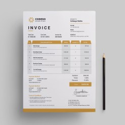 Invoice Template with Elegant Style