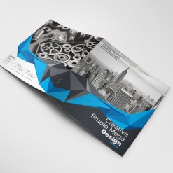 Mega Corporate Bifold Brochure Template
