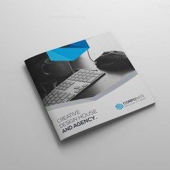 Perfect Bi-fold Square Brochure Template