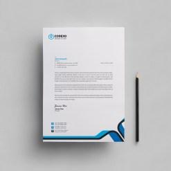 Plain Letterhead Design Template