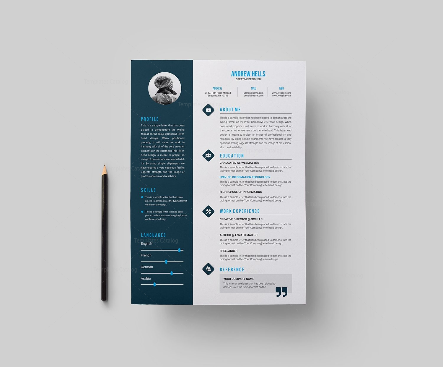 color on resume resume template with style 000377 template catalog 1242