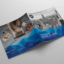 Blue Stylish Corporate Brochure Template