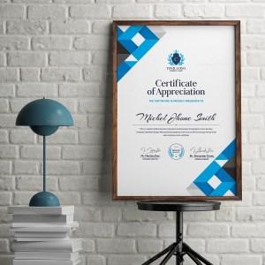 Elegant Vertical Certificate
