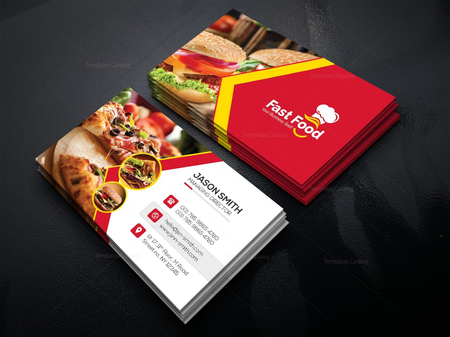 This is a photo of Luscious Food Cards Template