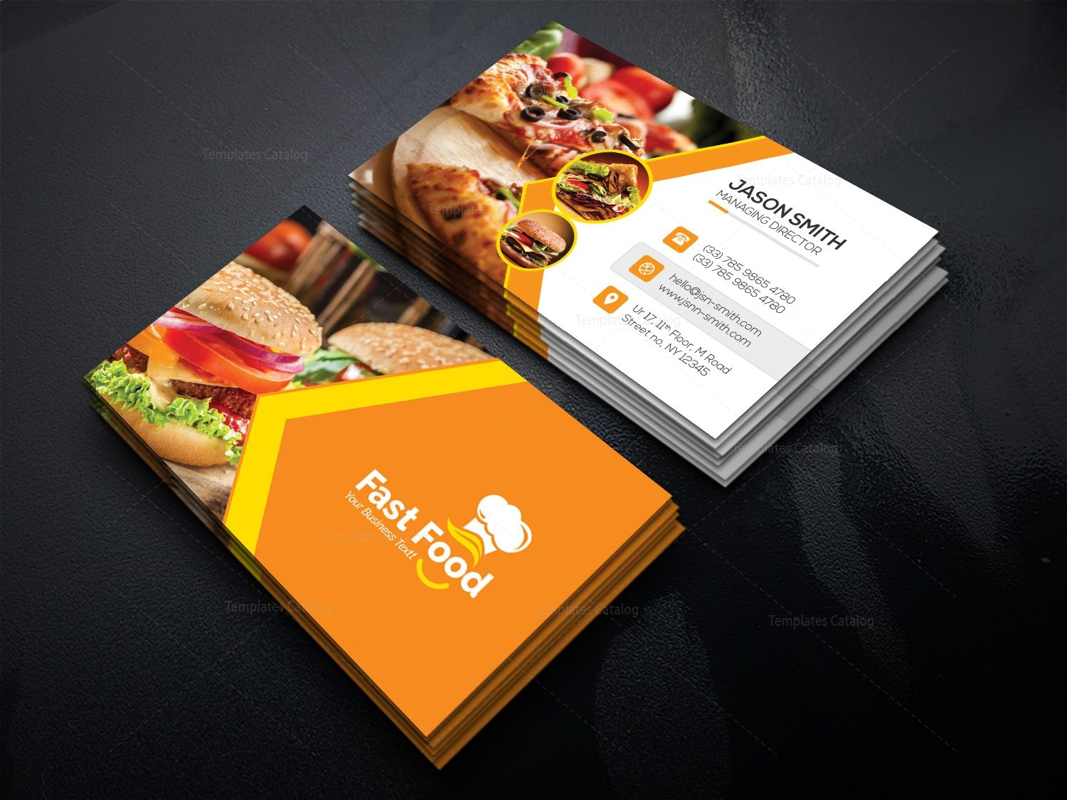 It's just a photo of Candid Food Cards Template