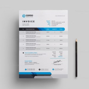 Modern Corporate Invoice Template