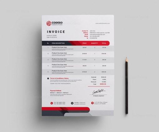 Modern Corporate Invoice Template