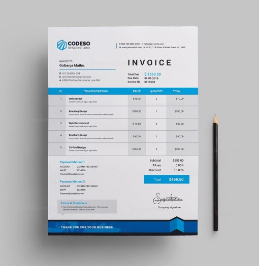 Modern Stylish Invoice