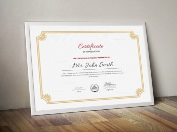 Old School Certificate Template