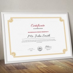 Old School Certificate Template