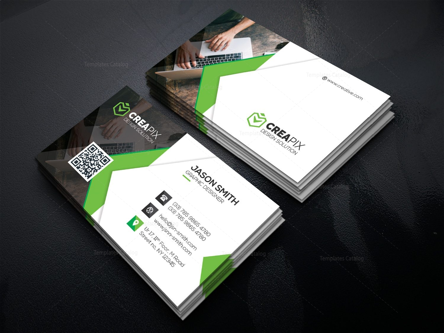 Personal Business Card Template 000480 Template Catalog
