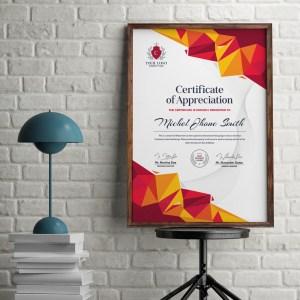 Stylish Portrait Certificate Template