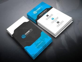 Vertical Business Card with Stylish Design