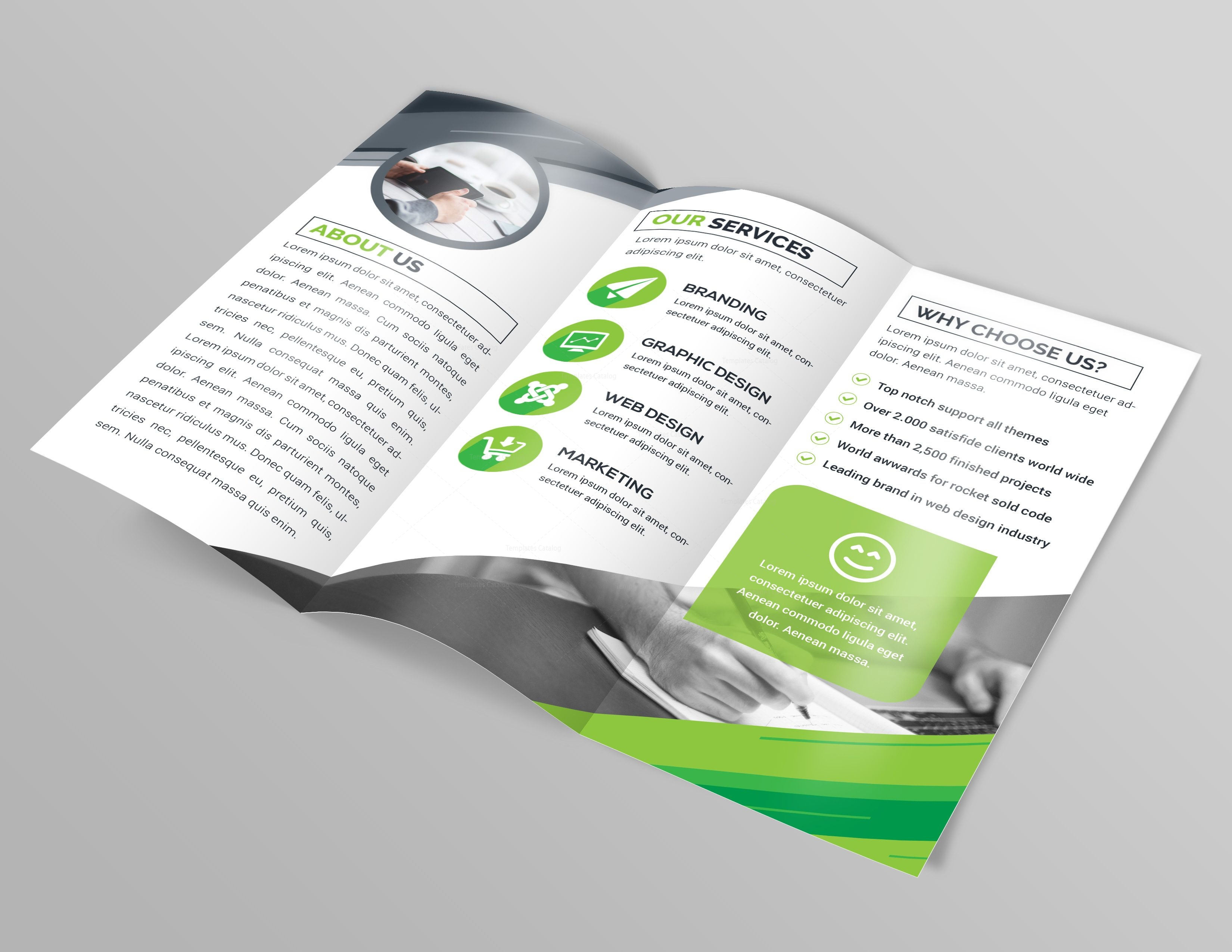 Apollo Professional Tri-Fold Brochure Template