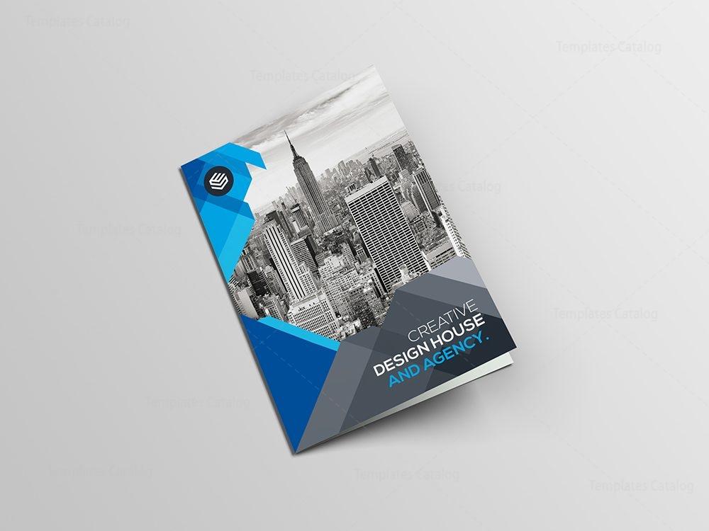 blue corporate bi-fold brochure template 000710