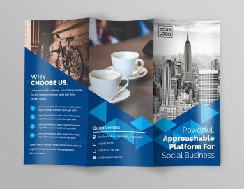 Business Premium Tri-Fold Brochure Template