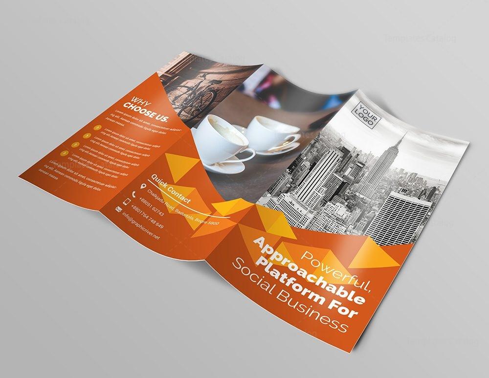 business premium tri-fold brochure template 000745