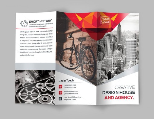 Elegant Tri-Fold Brochure Template with Modern Design