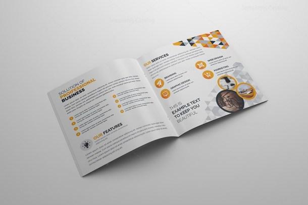Fancy Corporate Bi-Fold Brochure Template