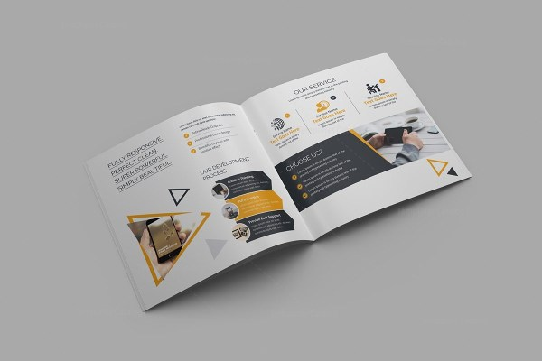 High Quality Square Brochure Template 000619