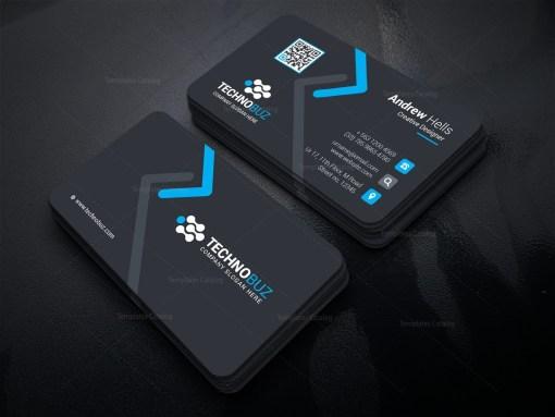 High Tech Company Business Card Template
