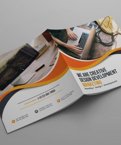 Janus Corporate Square Bi-Fold Brochure Template