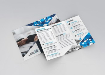 Lily Tri-Fold Corporate Brochure Template