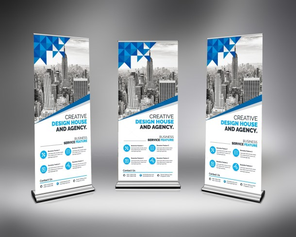 Modern Stylish Roll-Up Banner