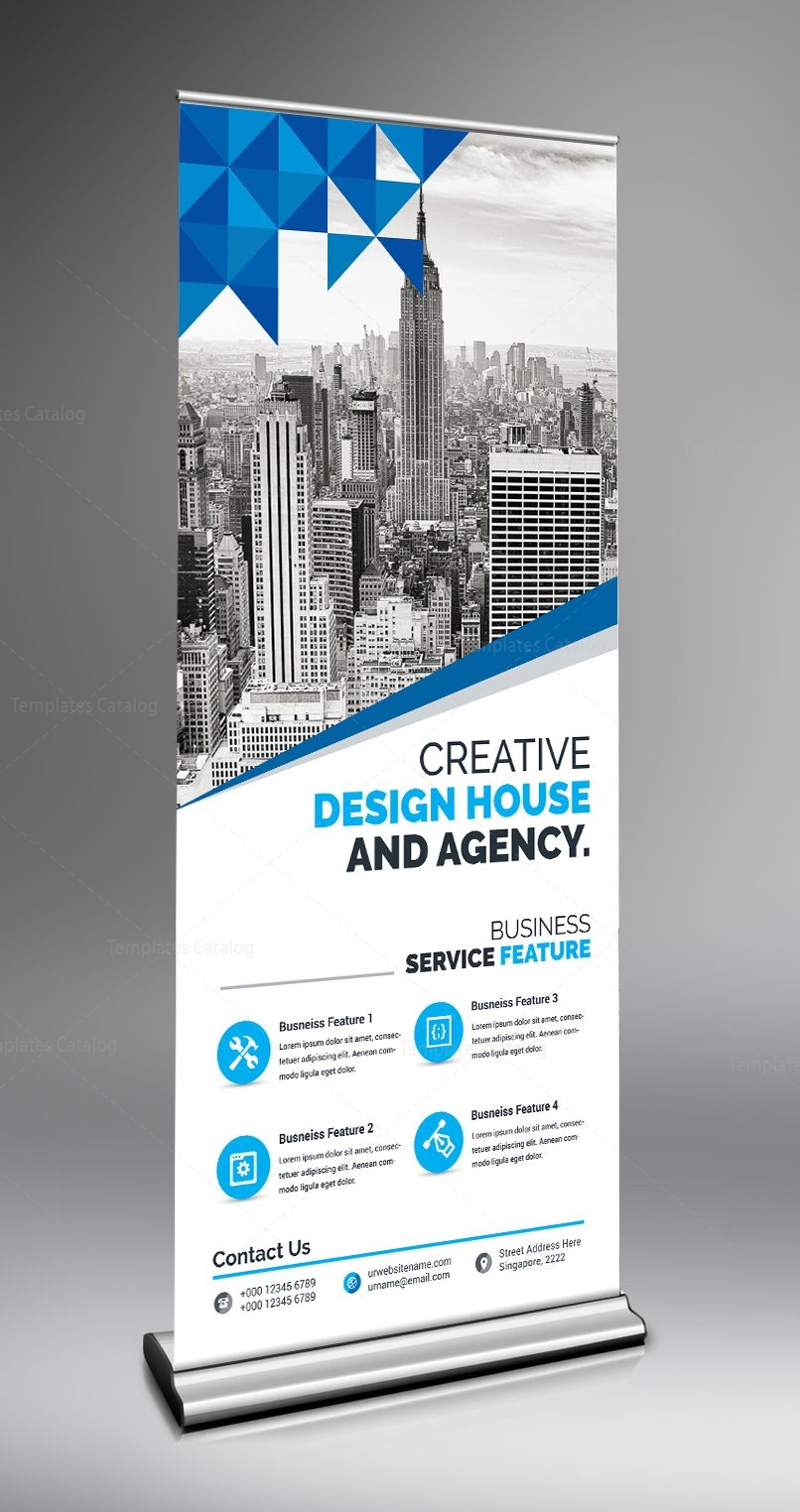Modern Stylish Roll-up Banner 000677