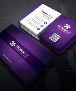 Purple Modern Business Card Template