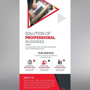 Roll Up Banner Template with Clean Design