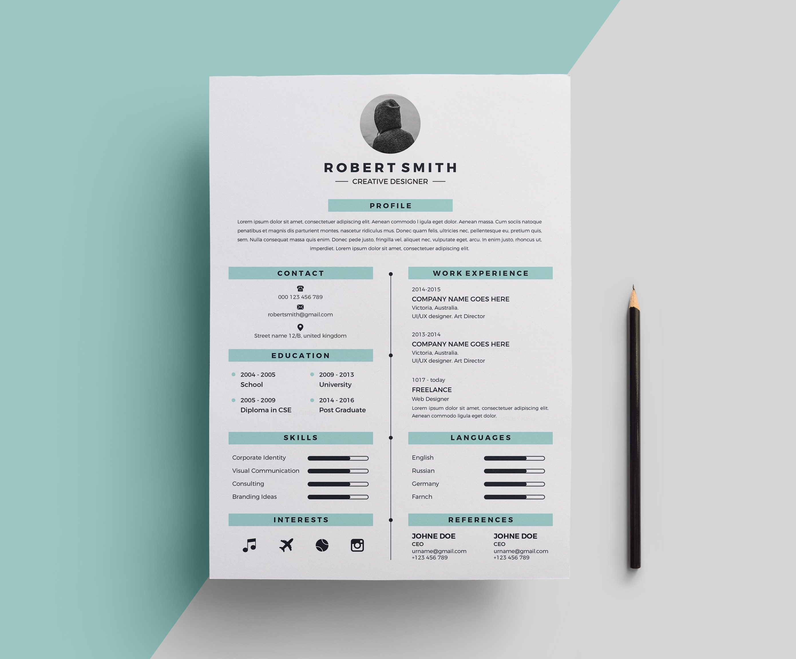 star stylish resume template 000696