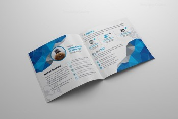 Vision Square Bi-Fold Corporate Brochure Template