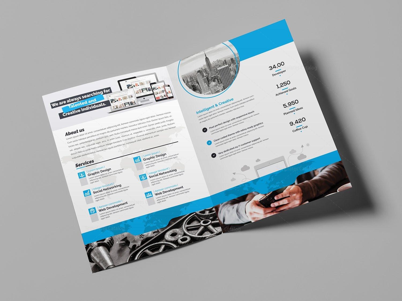 world bi-fold brochure template 000724