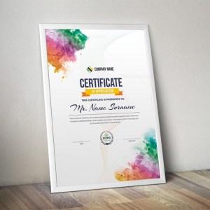 Artemis Elegant Portrait Certificate Template